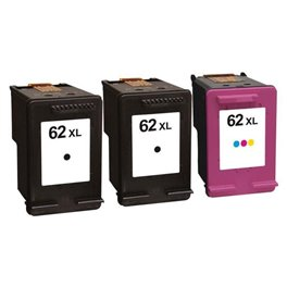 inkjet cartridge hp 62 xl pack 2b 1c 1475. Black Bedroom Furniture Sets. Home Design Ideas